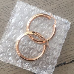 Rose Gold Hoops for @redneckchick1